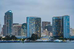 Sunset skyline view. San Diego, JUN 29: Sunset skyline view on JUN 29, 2018 at San Diego, California stock images