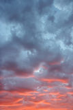Sunset skyscape. Stock Images