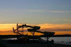 Sunset slide Stock Photo