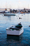 Sunset in Sliema, Malta. Boats in Sliema harbor, Malta. Beautiful sunset Royalty Free Stock Photos