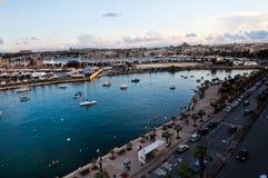 Sunset in Sliema, Malta. Beautiful sunset in winter, Sliema harbor, Malta Stock Photography