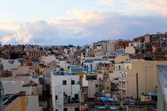 Sunset in Sliema, Malta. Beautiful sunset in winter. City of Sliema, Malta Royalty Free Stock Photo