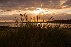 Sunset in Sligo. Sunset photographed from low viewpoint in Co.Sligo, Ireland Stock Images
