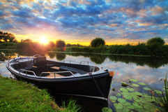 Sunset sloop Royalty Free Stock Photo