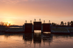 Sunset at the Sluice Stock Images