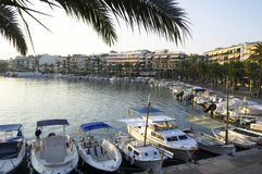 Sunset in small port, Majorca Royalty Free Stock Photography