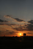 Sunset in a Small Town. The sunsets over a quiet small town Royalty Free Stock Photography