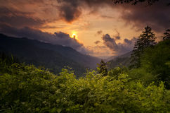 Sunset in the Smokies Royalty Free Stock Photography