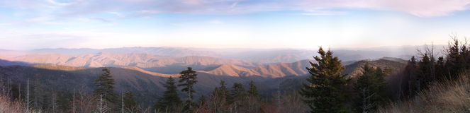 Sunset in The Smokies Royalty Free Stock Image