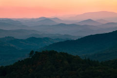 Sunset in Smoky Mountains National Park Tennessee Royalty Free Stock Image
