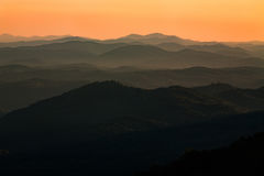 Sunset Smoky Mountains National Park Tennessee Stock Photos