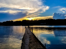 Sunset at Norris Lake in Snellville Georgia Royalty Free Stock Photo