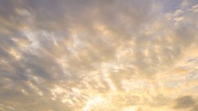 Sunset with soft cloud Stock Images