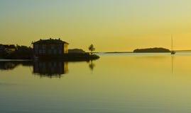 Sunset on Solovki island Royalty Free Stock Images