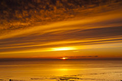 Sunset, Solway Firth, Sotland, winter Royalty Free Stock Photography
