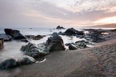 Sunset at Sombrio Beach stock photo