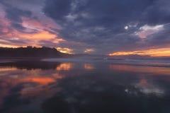 Sunset in Sopelana with beautiful sky. Sunset in Sopelana with a beautiful sky Stock Images
