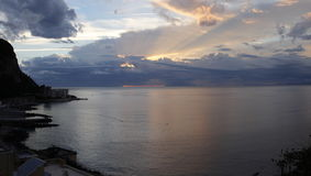 Sunset in Sorrento Stock Photography