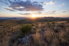 Sunset at Sotol Vista Royalty Free Stock Photography