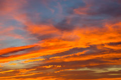 Sunset from South Africa Royalty Free Stock Photo