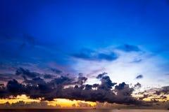 Sunset at South China Sea, Phuc Quoc, Vietnam. Sunset at South China Sea with big skies and ships, Phu Quoc, Vietnam Stock Photography