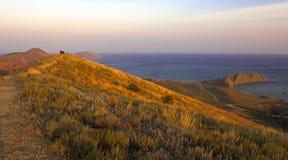 Sunset in the South-East coast of Crimea.  Stock Photos