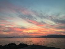 Sunset. In south France stock photography