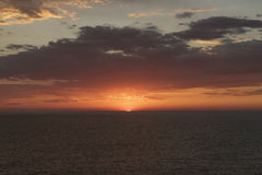 Sunset in the South Pacific Ocean Royalty Free Stock Photos