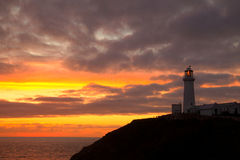 Sunset at South Stack Lighthouse Royalty Free Stock Photos