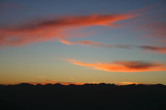 Sunset at Southern Alps Royalty Free Stock Photos