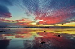 Sunset, Southern California royalty free stock photography