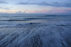 Sunset At The Southern Outer Banks, Emerald Isle, North Carolina Royalty Free Stock Image