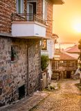 Sunset in Sozopol Stock Photography