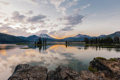Sunset at Sparks Lake Stock Images