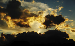 Sunset. Special clouds and colors at sunset Stock Photography