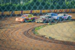 Sunset Speedway Motor Sports royalty free stock photo