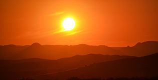 Sunset in Spitzkoppe. A nice sunset in Spitzkoppe, Namibia Royalty Free Stock Photography