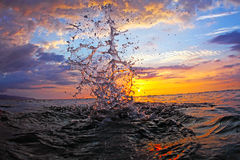Sunset Splash Royalty Free Stock Photos