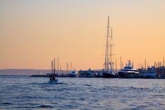 Sunset in Split Royalty Free Stock Image