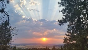 Sunset. In spokane washington. This photo has no filters or effects put on it Royalty Free Stock Images