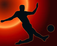 Sunset Sport Silhouette Soccer player Stock Photos