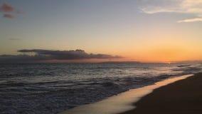 Sunset in Spring in Kekaha on Kauai Island, Hawaii - Niihau Island on Horizon.