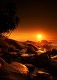 Sunset on Sri Lanka Royalty Free Stock Images