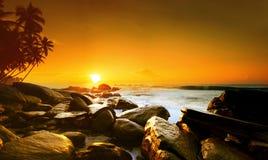 Sunset on Sri Lanka Royalty Free Stock Photography