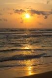 Sunset in sri lanka Stock Photography