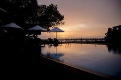 Sunset srilanka hotel Stock Photos