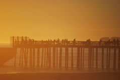 Sunset at SS Palo Alto Pier. Royalty Free Stock Photos