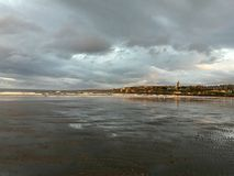 Sunset in St. Andrews. Waiting for the best light stock photography