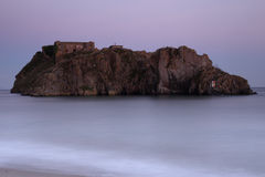 Sunset at St. Catherines Island, West Wales, UK Royalty Free Stock Images