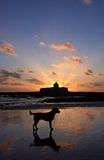 Sunset at St Cwyfan's royalty free stock images